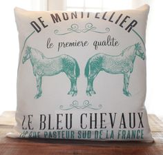 Equine Pillow by CCurate on Etsy