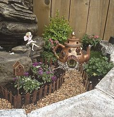 Teapot Fairy Garden