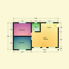 Planos de 2 Dormitorios – Constructora Sol del Plata Bungalows, Desktop Screenshot, Floor Plans, Ideas, House Template, Home Made Simple, Sun, Manufactured Housing, Galaxy Art