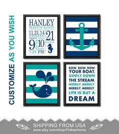 Tropical baby nursery decor with stats flamingo pineapple xoxo new baby announcement nautical nursery birth print personalized baby gifts wall decor nautical birth stats wall art whale anchor baby decor negle Images
