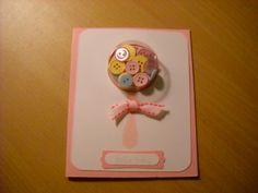Baby Girl Rattle Card