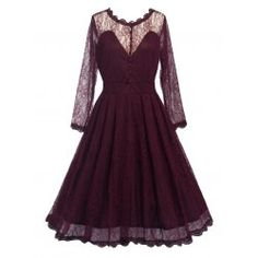 SHARE & Get it FREE | Vintage Long Sleeve Lace DressFor Fashion Lovers only:80,000+ Items • FREE SHIPPING Join Twinkledeals: Get YOUR $50 NOW!