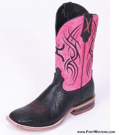 Hooey® Collection by Twisted X Boots® Ladies' Black Pink Boots  I recently bought these and LOVE them, the color is way better than in the picture!