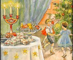 Klassiskt julkort av Jenny Nyström. Årtal?