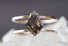 black geometric diamond ring  ::  Alexis Russell