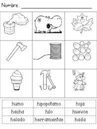 Letra H Del Abecedario En Ingles Con Palabras Que Empiezan