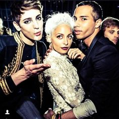 Throwback Met Ball pic of Nicole Richie and Oliver Rousteing #fashion