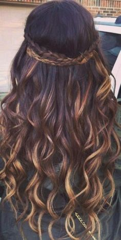 Brown Curly Hair, Colored Curly Hair, Brown Blonde Hair, Long Curly Hair, Curly Hair Styles, Brunette Hair, Short Hair, Medium Blonde, Medium Brown