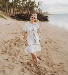 What you see here is a creature thriving in her natural habitat (when she has SPF 50 on, of course.) A little sun, sand, and vitamin sea is good for the soul. Double tap if you agree! Beach Attire, White Dress, Double Tap, Casual, Sun, Inspiration, Dresses, Fashion, Biblical Inspiration