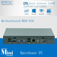 Intel Celeron J1800 2.41-2.58GHz Dual Core 2 Threads Fanless Barebone Mini PC with USB, WiFi and VGA