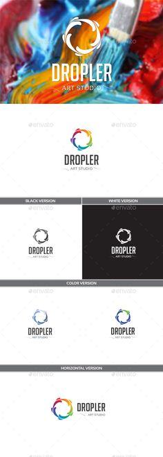 Dropler Logo Design Template Vector #logotype Download it here: http://graphicriver.net/item/dropler/11129316?s_rank=1015?ref=nesto