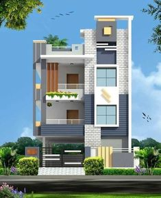 House Outer Design, House Front Design, Small House Design, Modern House Design, 3 Storey House Design, Bungalow House Design, Modern Bungalow Exterior, Front Elevation Designs, House Elevation