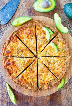 Cheesy avocado skillet pizza bread