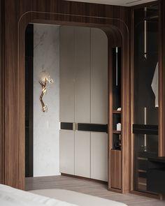 Indian Project on Behance Modern Scandinavian Interior, Contemporary Interior, Hall Wardrobe, Wardrobe Design, Shoe Cabinet Design, Indian Project, Feature Wall Design, Interior Architecture, Interior Design