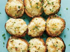 <p>Lemon-Caper Parmesan Potato Salad Bites</p>