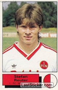 Stefan Reuter 1985 86 Norimberga Fussballspieler Bundesliga Trainer
