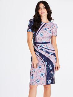 Little Mistress Arlie Ditsy Floral Pencil Dress size: 8 UK, colour: Mu Ditsy Floral, Occasion Wear, Mixing Prints, Pencil Dress, Dress Outfits, Short Sleeve Dresses, Short Sleeves, Wrap Dress, Bodycon Dress