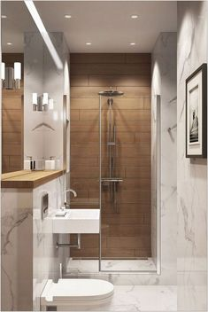 30+ Hottest Small Bathroom Remodel Ideas For Space Saving 33 - decorhomesideas #bathroom#smallbathroom#bathroomremodel