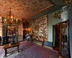 Virtual tour at the Victor Hugo's house the Hauteville House located in the town of St Peter Port on the island of Guernsey in the Channel Islands