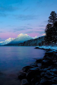 Arctic Slumber (Explored)  The sun in its final setting over Lake McDonald, Glacier National Park, Montana.  by Aaron A.,  on Flickr
