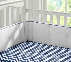 Chevron Stripe Crib Fitted Sheet | Pottery Barn Kids