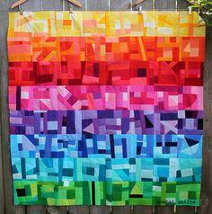 modern improv quilt