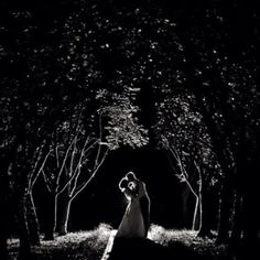 Love this night wedding shot <3