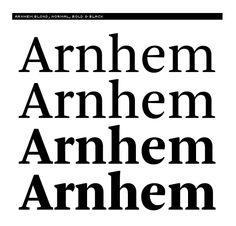 Arnhem blond, normal, bold and black