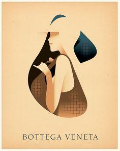 I wanna call it Art. Bottega Veneta Christmas Cards by Mads Berg, via Behance Graphic Design Posters, Graphic Design Illustration, Digital Illustration, Graphic Art, Illustration Styles, Inspiration Art, Graphic Design Inspiration, Art Deco Posters, 3d Models
