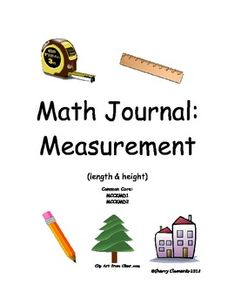 Visit my TPT store: This 6 page math journal focuses on measurement correlating with the CCGPS: and using the vocabulary length, long, short, tall, lon. Measurement Kindergarten, Math Measurement, Kindergarten Math, Teaching Math, Elementary Math, Math Resources, Math Activities, Math Tutor, Maths