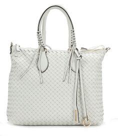 wardow.com - Tasche von Abro, Piuma Handtasche Leder weiß 34 cm
