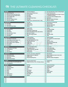 The Ultimate House Cleaning Checklist Printable di LuxePrintables