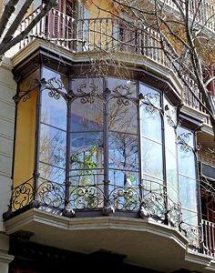 Ornate Barcelona windows