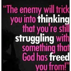 Hey! ✋ We are FREE!!!  GOD has freed us from our struggle!!! #PraiseGod #ThankYouGod