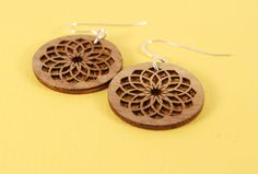 double dahlia earrings by makeatx