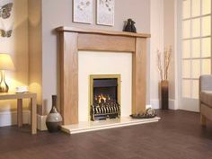 Richmond Plus, High Efficiency, Gas Fire, Brass Fascia