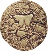 Aztec Moon Goddess Coyolxauhqui Round Relief
