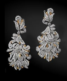 Buccellati gold and diamond earrings....someone, somewhere send me a pair!!!!!!