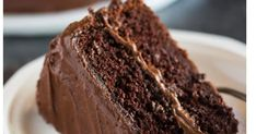 """Hershey's """"perfectly chocolate"""" chocolate cake with 5 ingredient chocolate frosting is our favorite homemade chocolate cake recipe. Homemade German Chocolate Cake, Chocolate Cake From Scratch, Homemade Chocolate Frosting, Perfect Chocolate Cake, Cake Recipes From Scratch, Chocolate Desserts, Chocolate Chocolate, Quick Easy Desserts, Fun Desserts"""