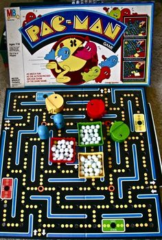 Pac-Man board game 1980s Milton Bradley
