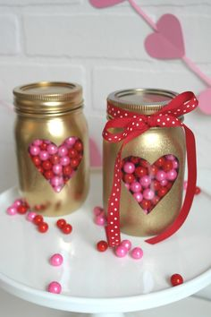 kreatives basteln einmachgläser diy ideen geschenkideen valentinstag