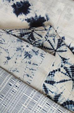 Batik bleach wrap fabric