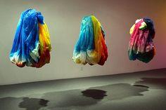 Sam Gilliam, Dance Me, Dance You 2, #1, #2, #3, 2009, acrylic on polyester