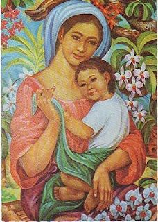 Philippine Madonna and Child -Amo a Vos''' Mae e Filho'''. Love You '''Mother and Son....!!!