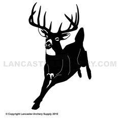 Outdoor Decals - Small Running Deer