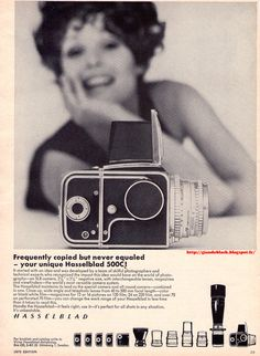 Retro Hasselblad ad from the 1970s