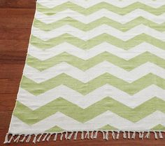 Chevron Rug | Pottery Barn Kids. Could even throw in some other color- as pastel colors in a girls room go with other pastels.