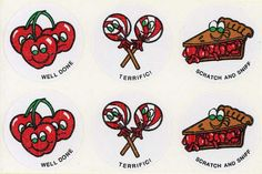 Vintage Scratch N Sniff stickers from my childhood