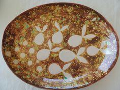 bandeja ceramica esmalte con picas.