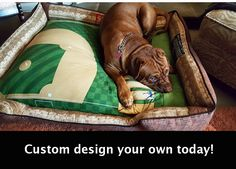 A personal favorite from my Etsy shop https://www.etsy.com/listing/459519658/custom-baseball-dog-bed-customize-by